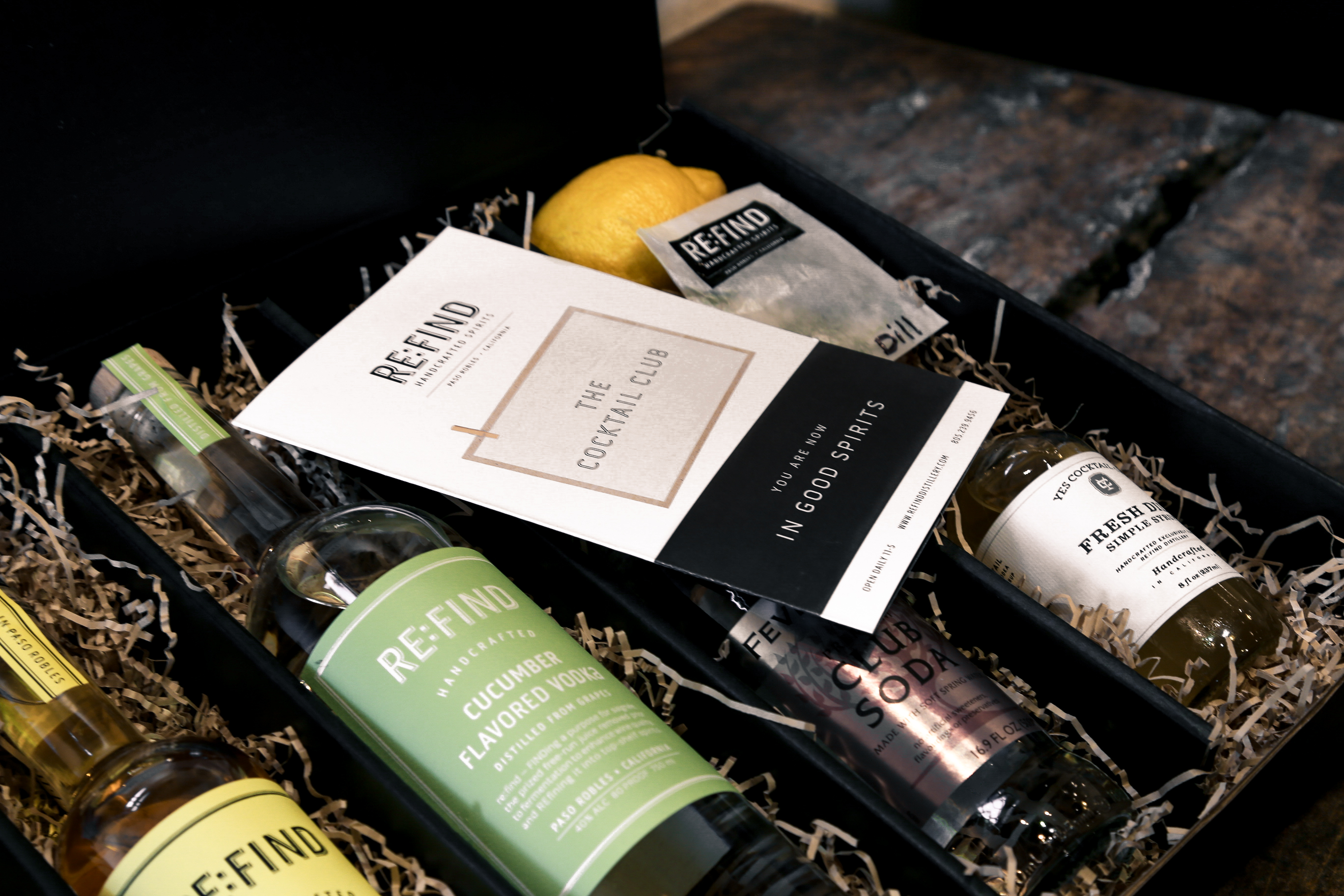Re:Find Distillery Cocktail Subscription Box Photography