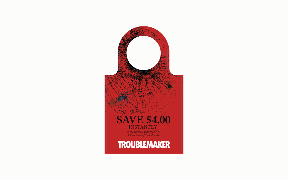 Amarie Design Co. Graphic Design for Troublemaker Wines Paso Robles California