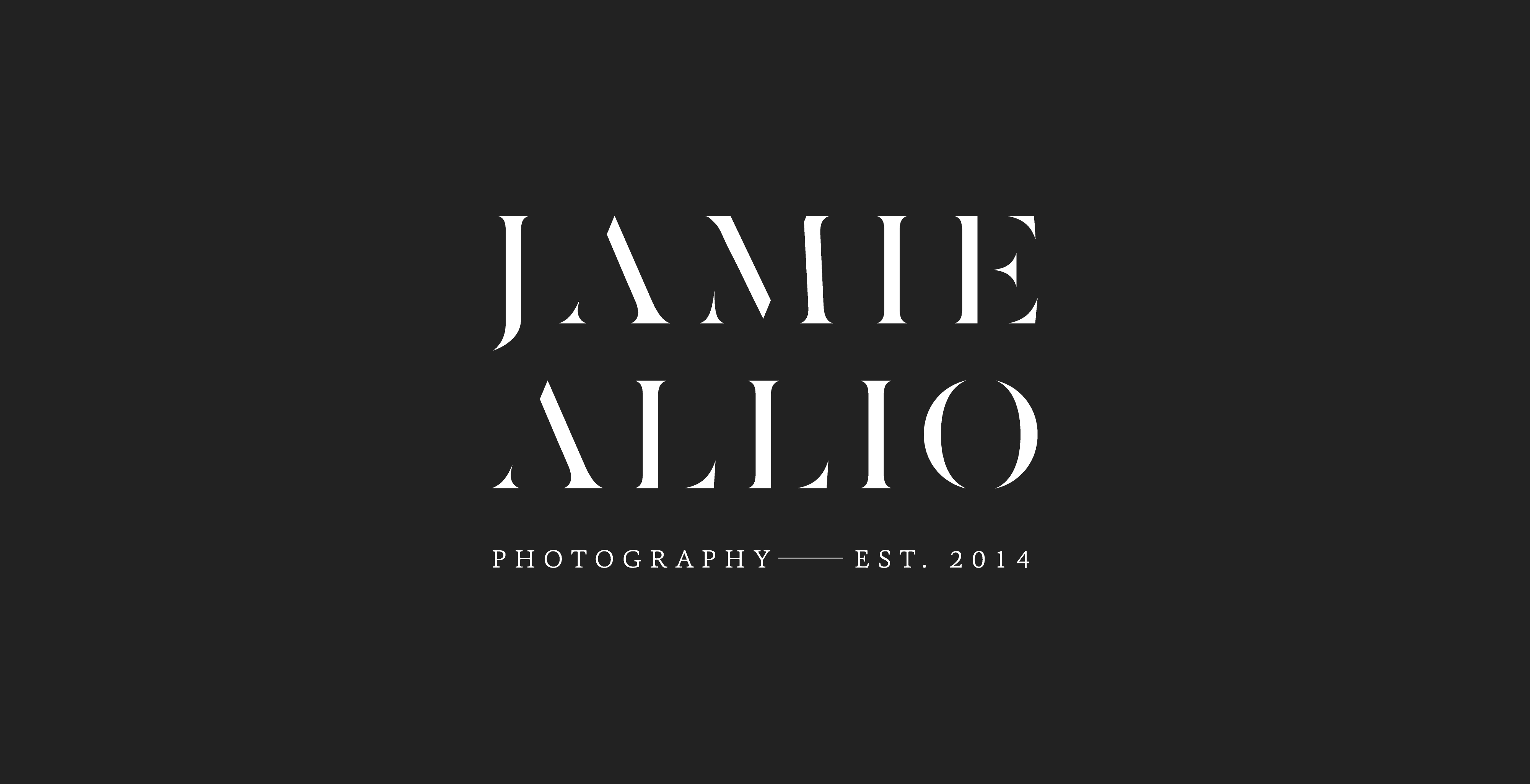 Brand Identity Design for Photographer Jamie Allio by Amarie Design Co.