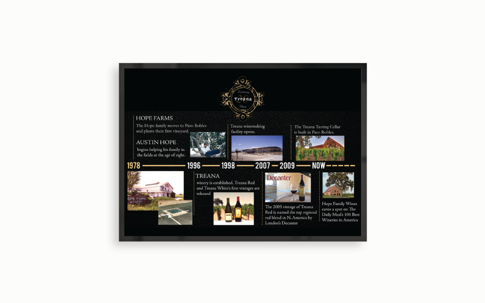 Amarie Design Co. Graphic Design Treana Winery Paso Robles California