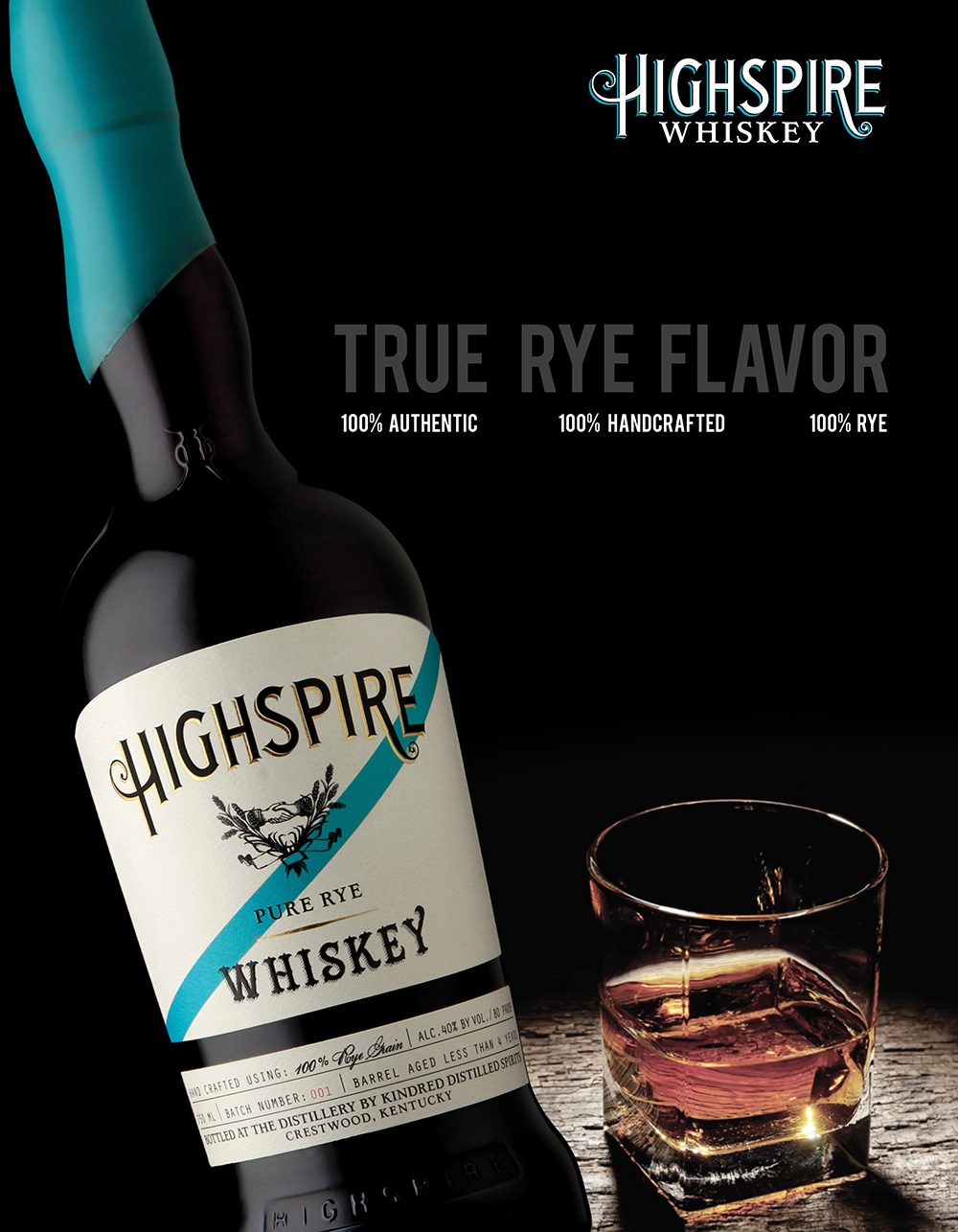 Editorial Layout Design for Spirits Magazine Highspire Whiskey Advertisement by Amarie Design Co.