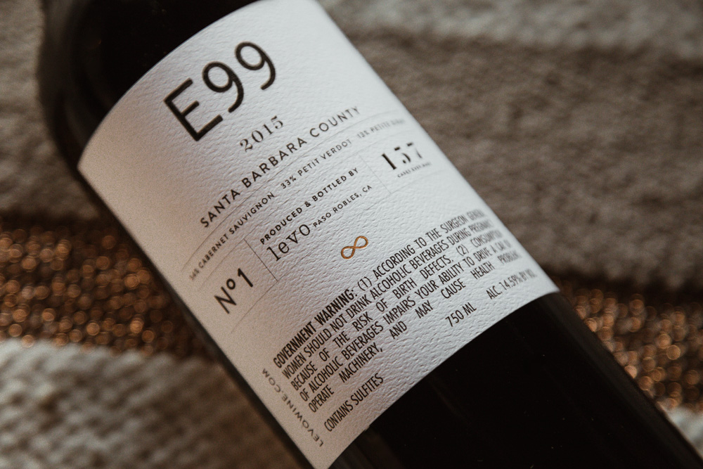 Amarie Design Co. Wine Label Design for Levo Wine E99 Cabernet
